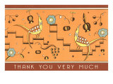 Thank You Very Much, Geometric Birds Poster