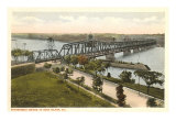 Bridge to Rock Island, Illinois Prints