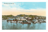Waterfront, Honolulu, Hawaii Prints