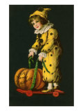 Halloween, Little Clown and Pumpkin Posters