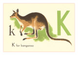 K is for Kangaroo Prints