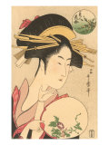 Japanese Woodblock, Lady's Portrait Print