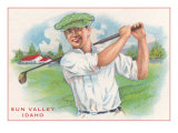 Sun Valley, Idaho, Happy Golfer Prints