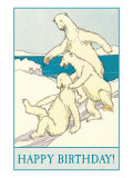 Happy Birthday, Polar Bear Fun Posters