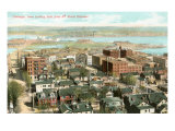 View over Dubuque, Iowa Print