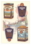 Advertisement for Monarch Cocoa and Tea Poster