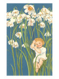 Baby in Snowdrops Art
