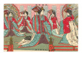Japanese Woodblock, Women with Fans Poster