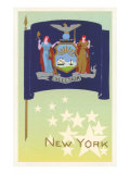 Flag of New York Premium Giclee Print