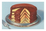 Yellow Cake with Chocolate Frosting, Three Layers Posters