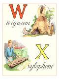 W Wigwam X Xylophone Prints