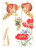 Elf Swinging on Mouse Tales Art