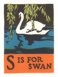 S is for Swan Print
