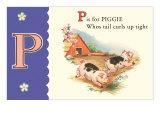 P is for Piggie, Art Print