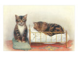Kittens with Crib Poster