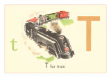 T is for Train Posters