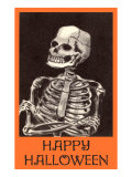 Happy Halloween, Skeleton Print