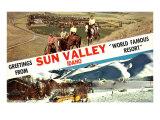 Greetings from Sun Valley, Idaho, Horses, Snow Print