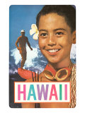 Hawaii, Surfer and Diving Boy Prints