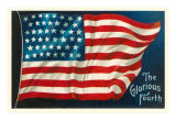 The Glorious Fourth of July, Flag Prints
