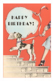 Happy Birthday, Schnauzer with Letter Posters