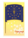 Flag of Indiana Posters