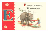 E is for Elephant Prints