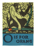 O is for Orang Print