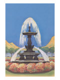 Fountain in Park Prints