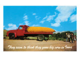 Giant Ear of Corn on Truck, Iowa Posters