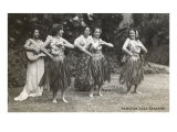 Hawaiian Hula Dancers Art