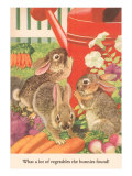 Bunnies and Vegetables Prints
