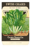 Swiss Chard Seed Packet Posters