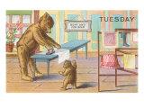 Tuesday, Teddy Bears Ironing Prints