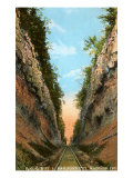 Railroad Cut, Madison, Indiana Poster