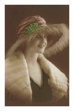 French Fashion, Woman in Fur and Hat Posters