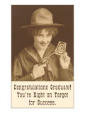 Congratulations Graduate, Cowgirl with Pistol Affiches
