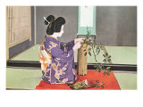 Geisha doing Ikebana, Photograph Prints