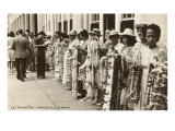 Lei Vendors, Honolulu, Hawaii Prints