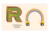 R is a Rainbow Posters