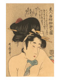 Japanese Woodblock, Nude Geisha Prints