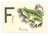 F is for Frog Print