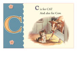 C is for Cat and also for Cow Posters