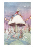 Fairies Dancing under Toadstool Prints