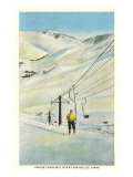 Chair Lift, Sun Valley, Idaho Posters