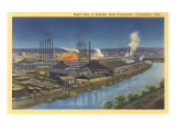 Night, Republic Steel Corporation, Youngstown, Ohio Prints
