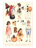 Halloween Outfits for Paper Dolls Print