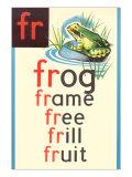 FR for Frog Poster