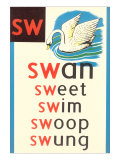 SW for Swan Posters