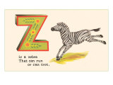 Z is a Zebra Poster